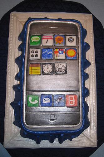 iPhone de pastel