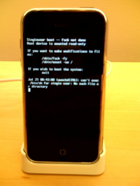 iPhone colgado