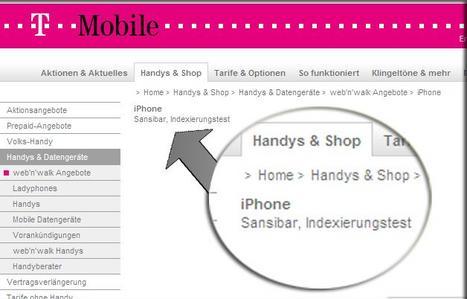 T-Mobile pone iPhone en su web