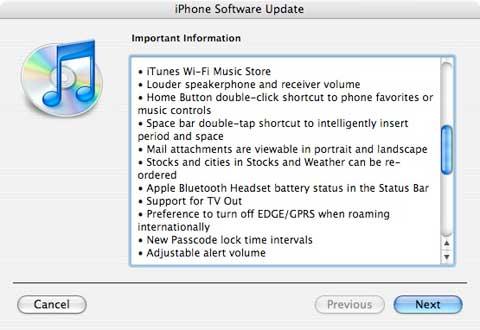 Ventana de actualización del firmware 1.1.1