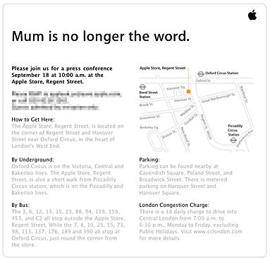 Invitación de Apple