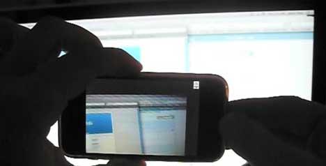 iPhone grabando video