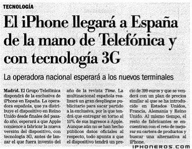 Telefónica lanzará iPhone 3G en España en iPhoneros - photo#34