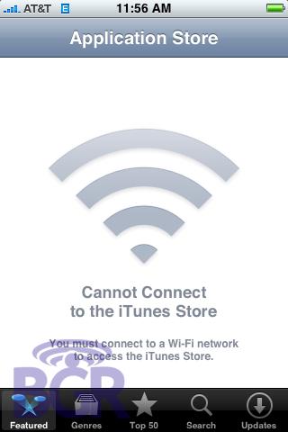 Sin Wifi no hay App Store