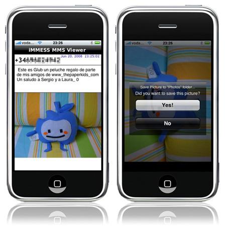 immess mms en el iPhone