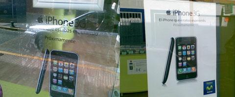 Publicidad del iPhone en Movistar