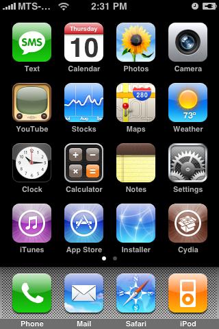 iPhone 3G con Installer