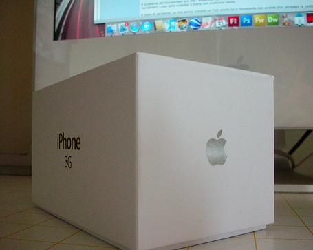 iPhone 3G blanco recién comprado