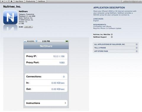 NetShare en la App Store