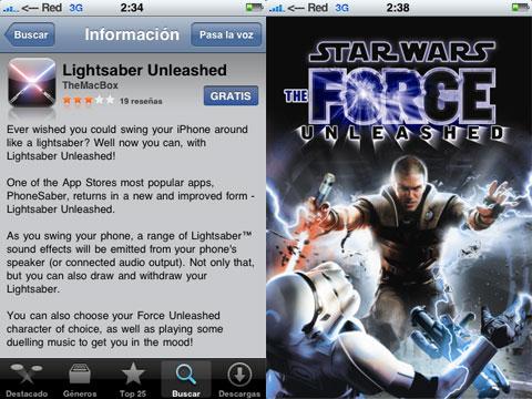 Lightsaver Unleased, Star Wars en tu iPhone