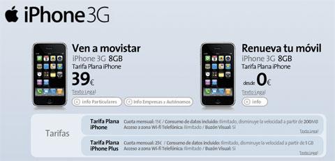 Tarifas de Movistar para el iPhone