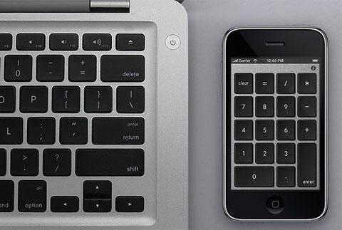 Teclado numérico en el iPhone