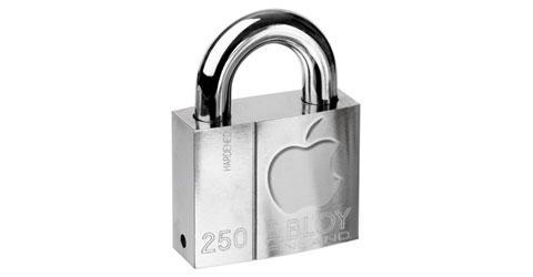 Candado con logo de Apple