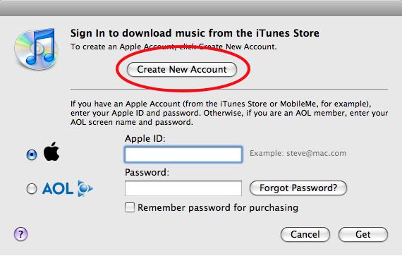 Crea una cuenta en iTunes sin tarjeta de crédito