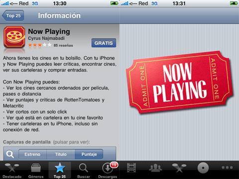 Cines en el iPhone