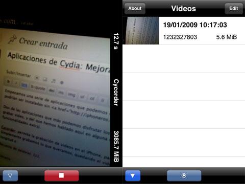 Graba video en el iPhone