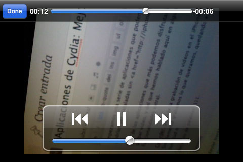 Grabando video en el iPhone