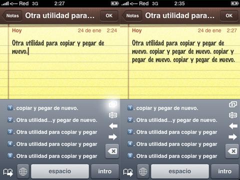 Copiar y pegar en el iPhone, otra vez