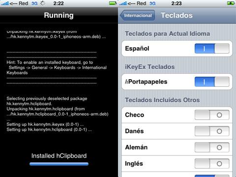 hClipboard, copiar y pegar en el iPhone