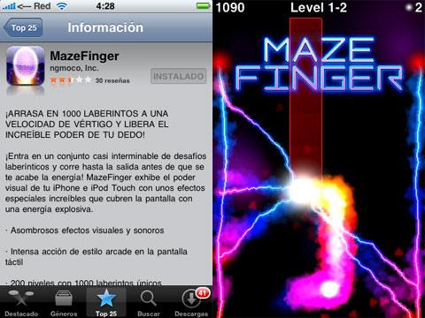 MazeFinger