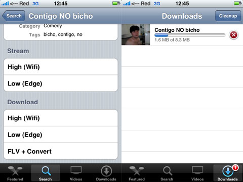 Descargando YouTube en un iPhone