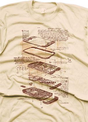 Camiseta Leonardo DaVinci y iPhone