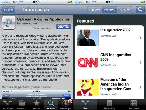 Ustream en el iPhone