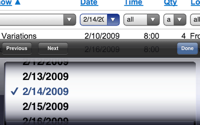 Excel en el iPhone