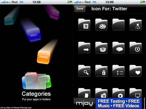 Carpetas en el iPhone y iPod Touch