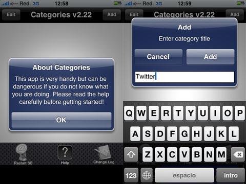 Cuidadín con Categories en el iPhone
