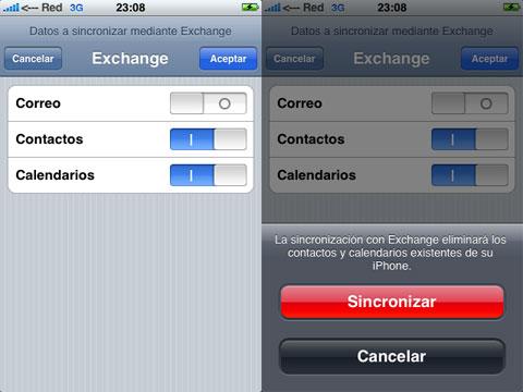 Configuración de Google Sync en el iPhone
