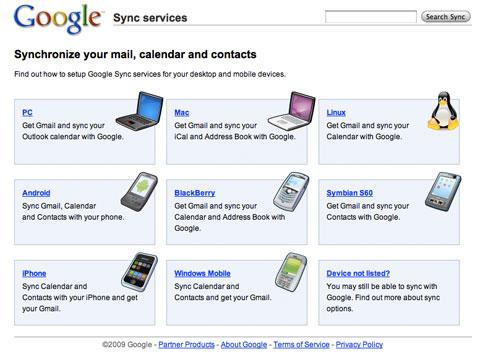 Google Sync para iPhone