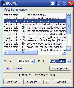 iPodMe, conversor de videos para Windows