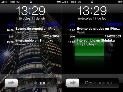 Lock Calendar en el iPhone