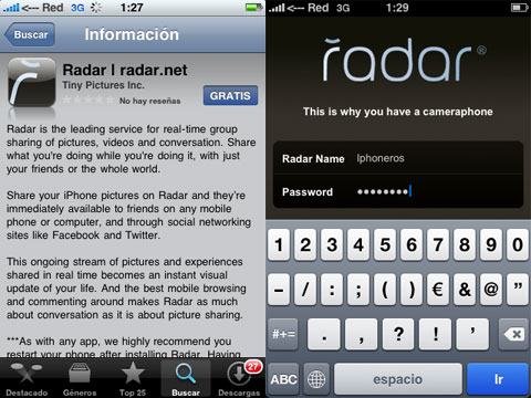 Radar en el iPhone