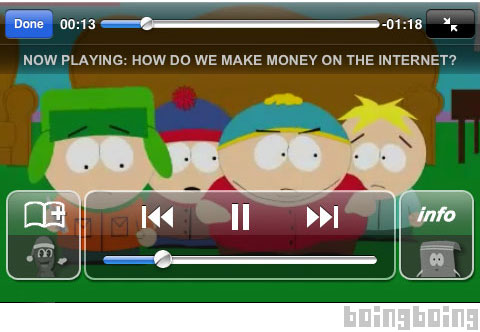 South Park en el iPhone