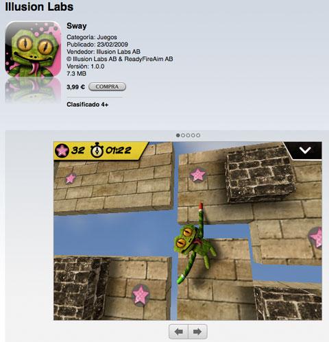 Sway a la venta en la App Store