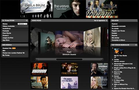 Videos musicales en la iTunes Store