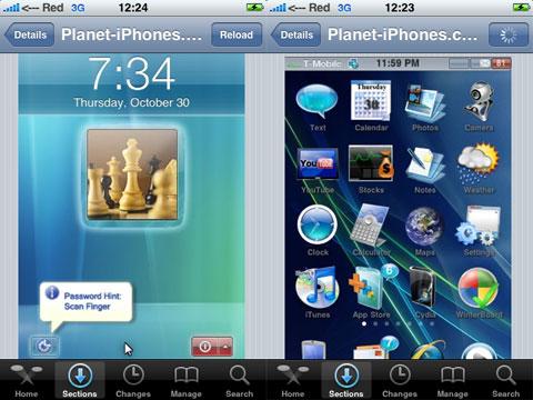 Vista en el iPhone