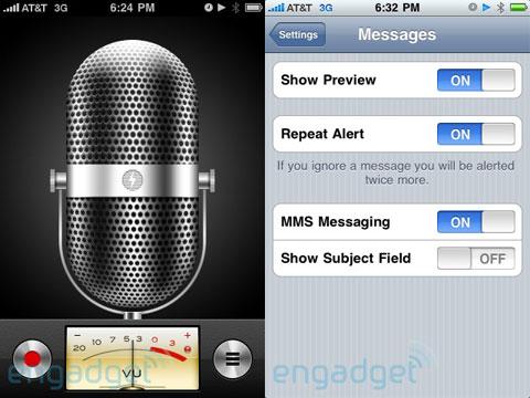Grabador de voz iPhone