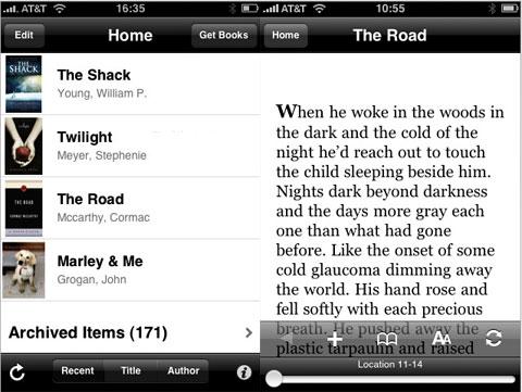 Kindle para iPhone