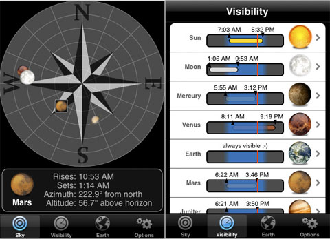 Planets en el iPhone