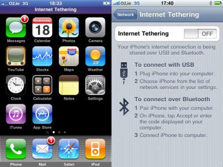 Modem tethering en el iPhone