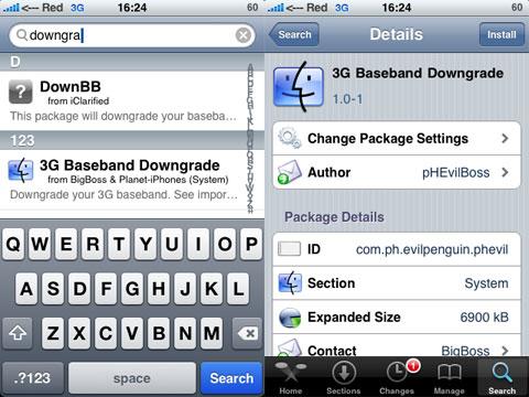 3G Baseband Downgrade