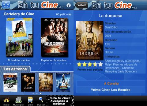 En tu cine, aplicación del iPhone para encontrar películas cerca