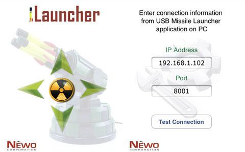 iLauncher, lanzando un misil desde un iPhone