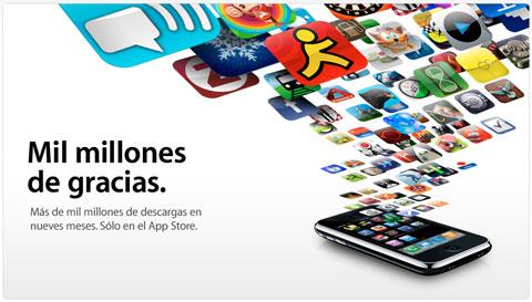 Apple distribuye mil millones de aplicaciones