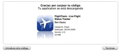 FlightTrack Pro descargándose