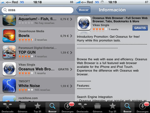 Nuevo navegador para iPhone