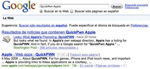 Los primeros buscando por QuickPwn Apple
